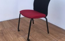 Chaise accueil ADD FORM ROUGE EMPILABLE