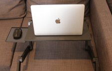 Table pc pliable en aluminium avec tapis de souris