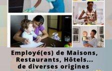 Ménage / Nounou / Cuisine / Garde malade / Serveuse