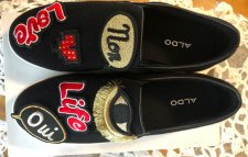 Chaussures slip on noires Aldo