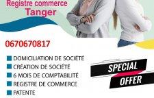 création registre du commerce  à Tanger